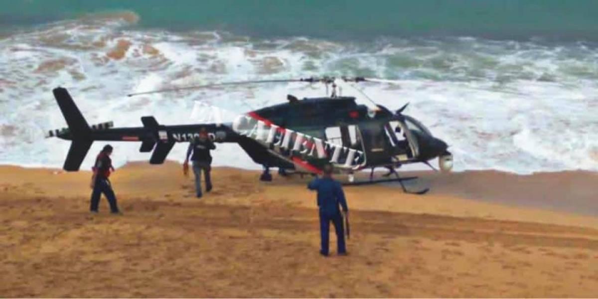 Helicoptero de FURA aterriza de emergencia en Piñones