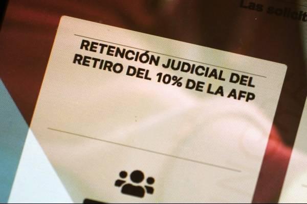 Cifras de país subdesarrollado: en 5 días Poder Judicial registra 155.577 solicitudes de retención de segundo 10%