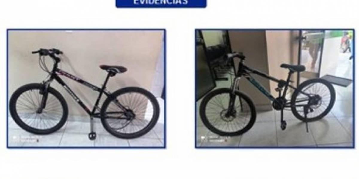 Recuperan dos bicicletas en un taller de reparación en Ibarra
