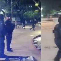 Policías de Cancún dispersan a disparos manifestación feminista
