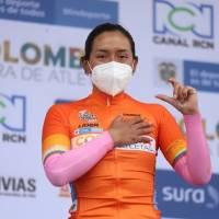 ¡Vamos Ecuador! Miryam Núñez llega en segundo lugar y sigue como líder de la general de la Vuelta a Colombia Femenina