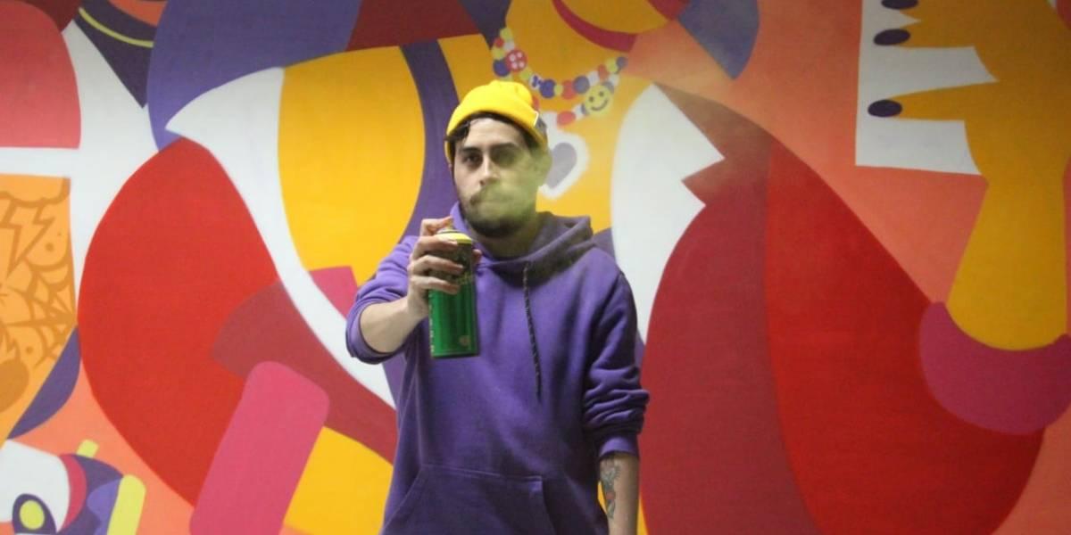 Reconocido artista urbano donó enorme mural a sede del SENA en Bogotá