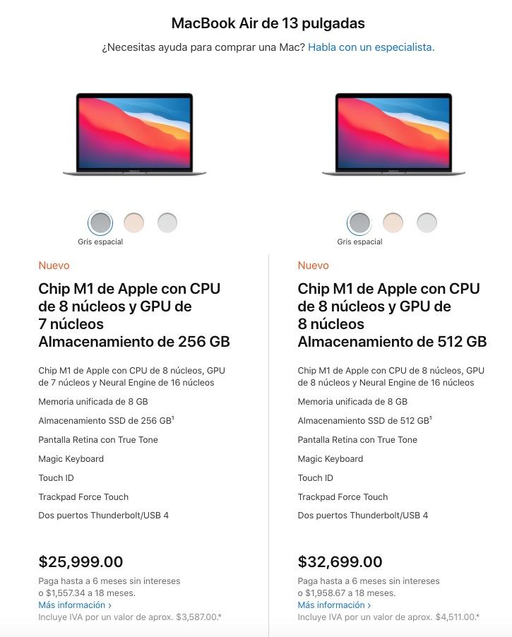 Apple MacBook precios México