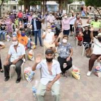 GAD de Tarifa entregó kit de alimentos a adultos mayores