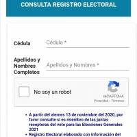 Consulta aquí si eres miembro de la Junta Receptora del Voto para las Elecciones 2021