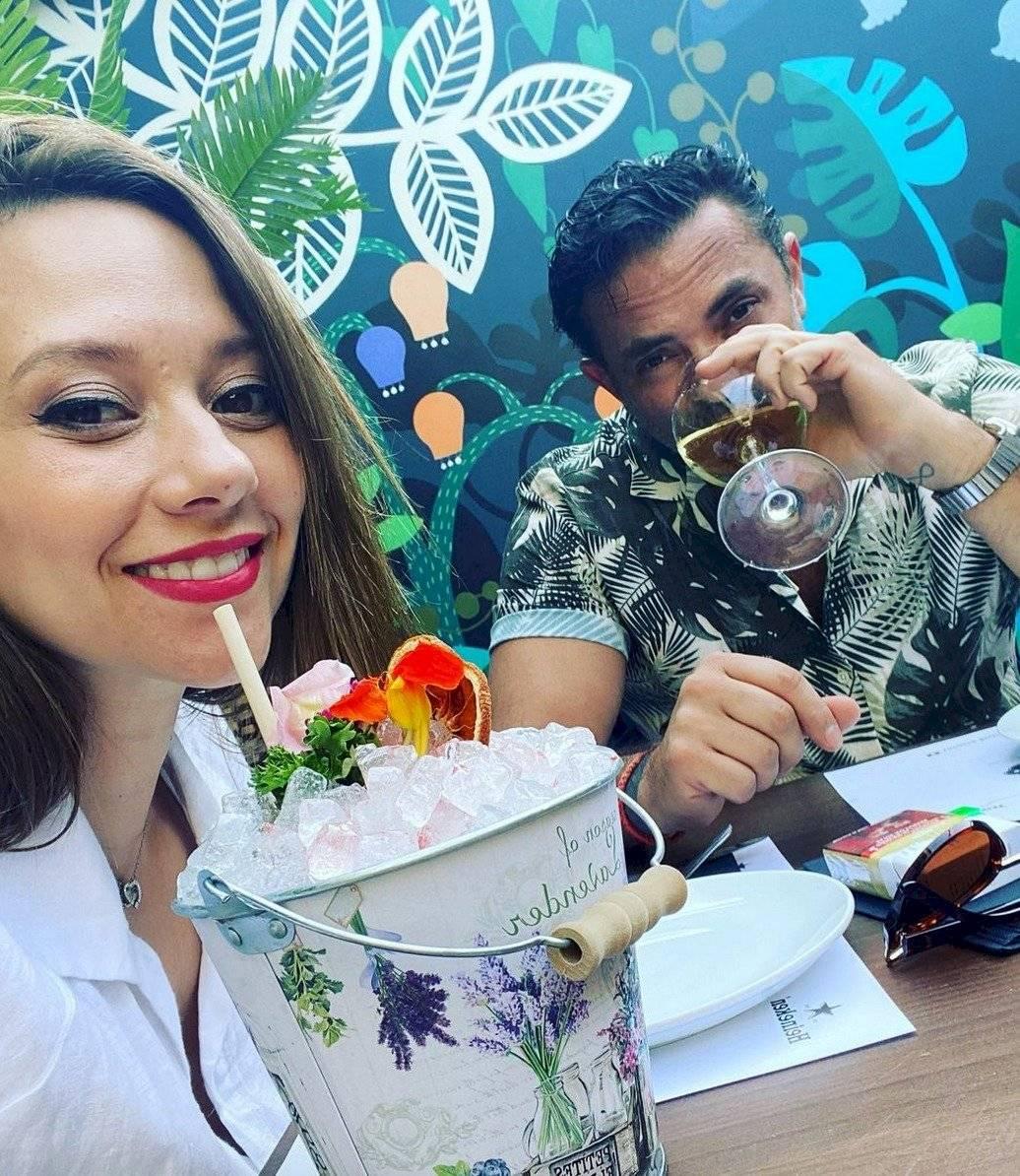 Ingrid Parra y su pareja Cristián Salazar