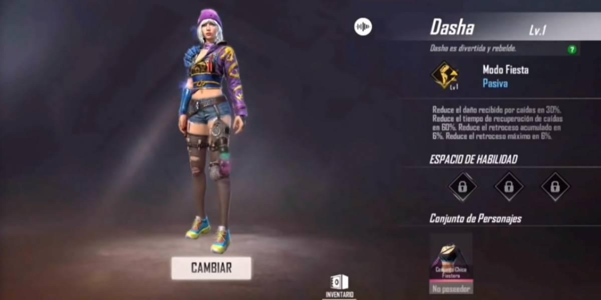 Free Fire: esta es la habilidad del nuevo personaje, Dasha