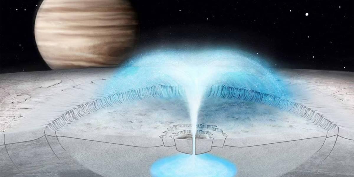 Estudio: un simulador detalla como ocurren las erupciones heladas en Europa, una de las lunas de Júpiter