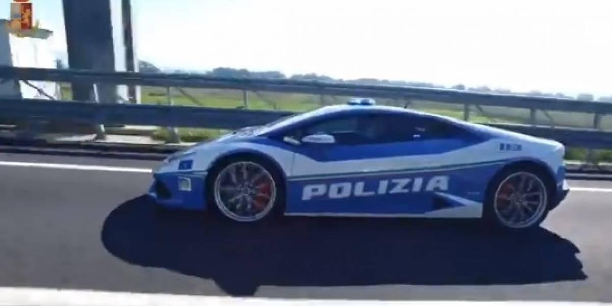 Policía italiana usó un Lamborghini para transportar un riñón: recorrieron 500 kilómetros en tiempo récord