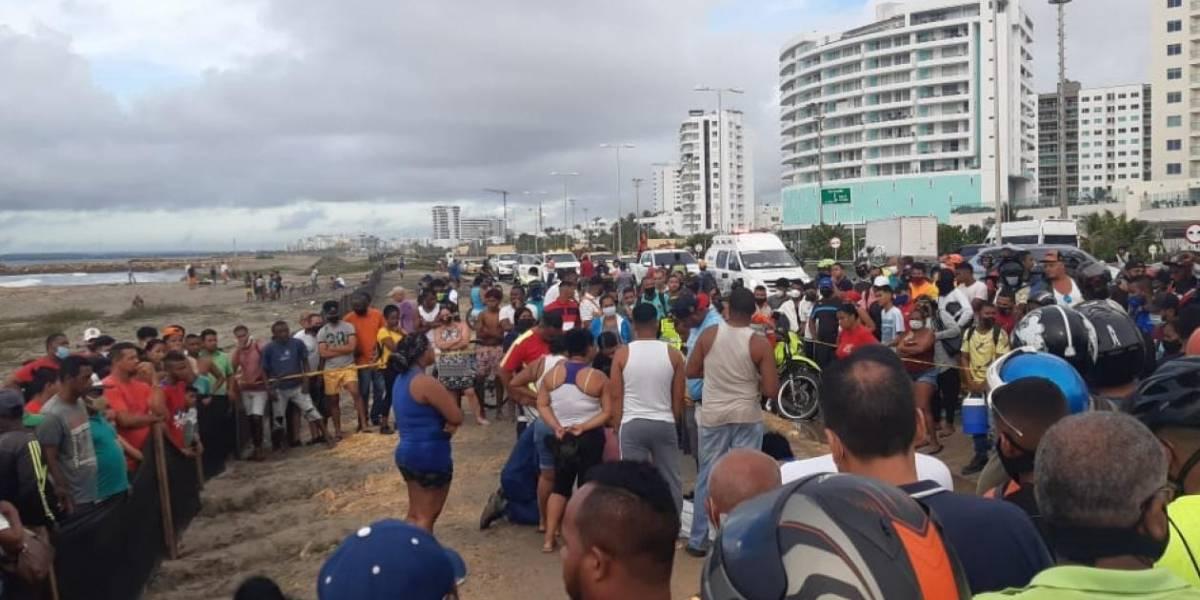 Se ahogaron dos menores que se bañaban juntos en playa de Cartagena