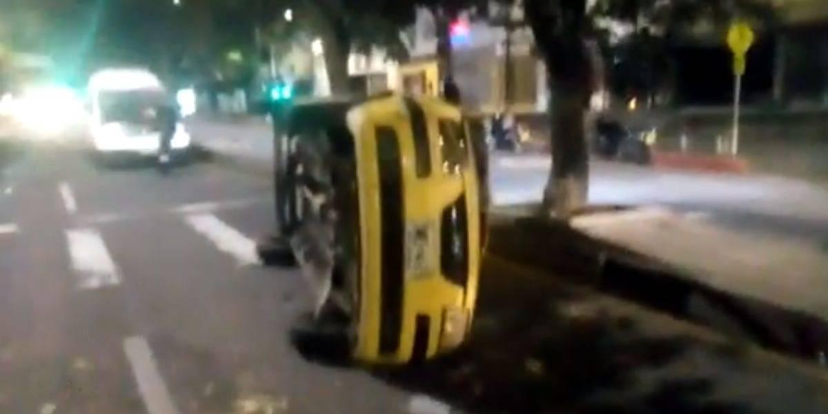 Grave accidente de tránsito dejó dos personas heridas