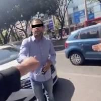 Automovilista invade ciclovía de Insurgentes y agrede a denunciante