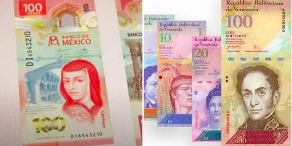 ¿Es igual al de Venezuela? Candente polémica en redes por billete de 100 pesos vertical