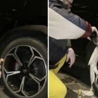 Vídeo: filho de bilionário lava pneu de Lamborghini com champanhe de R$ 1.400 e gera polêmica