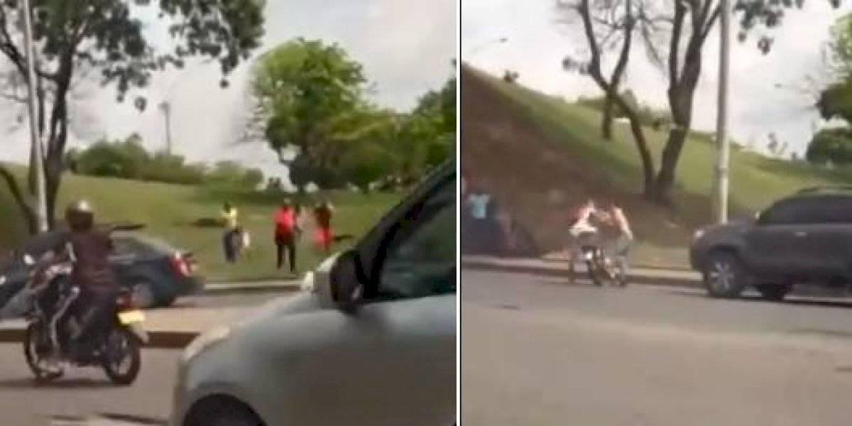 (VIDEO) Un ciudadano que grababa un trancón terminó siendo testigo de un asesinato