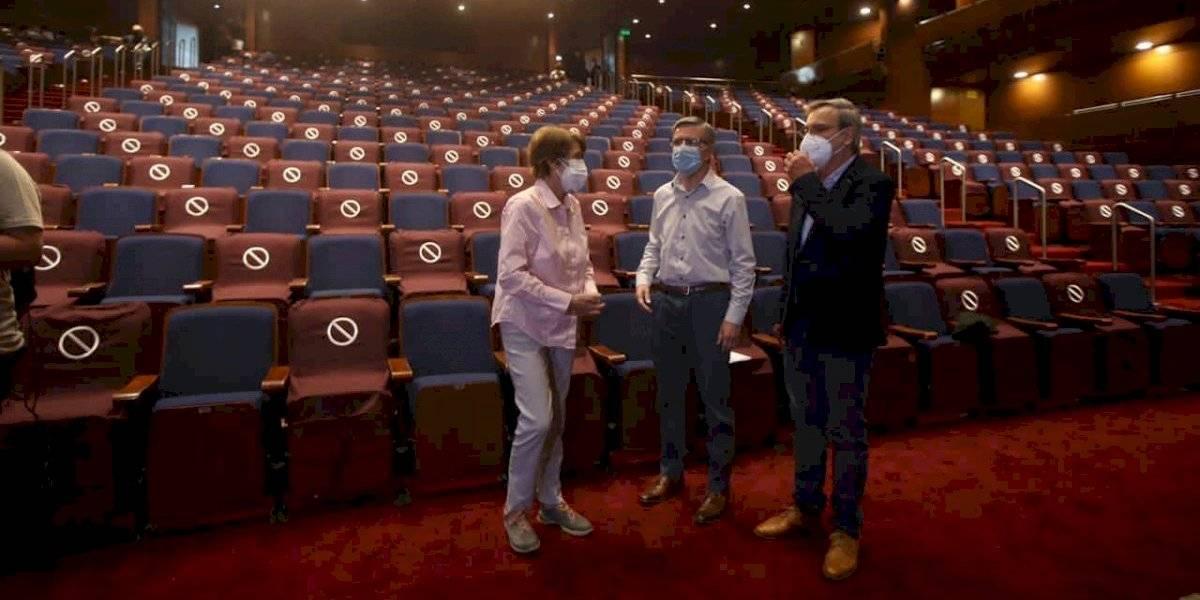 Autoridades anunciaron la reapertura del Teatro Municipal de Las Condes