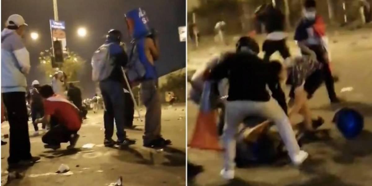 Imágenes sensibles: Momento en que un manifestante en Perú recibe un disparo en la cabeza