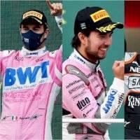 Los nueve podios de Sergio Pérez en Fórmula Uno