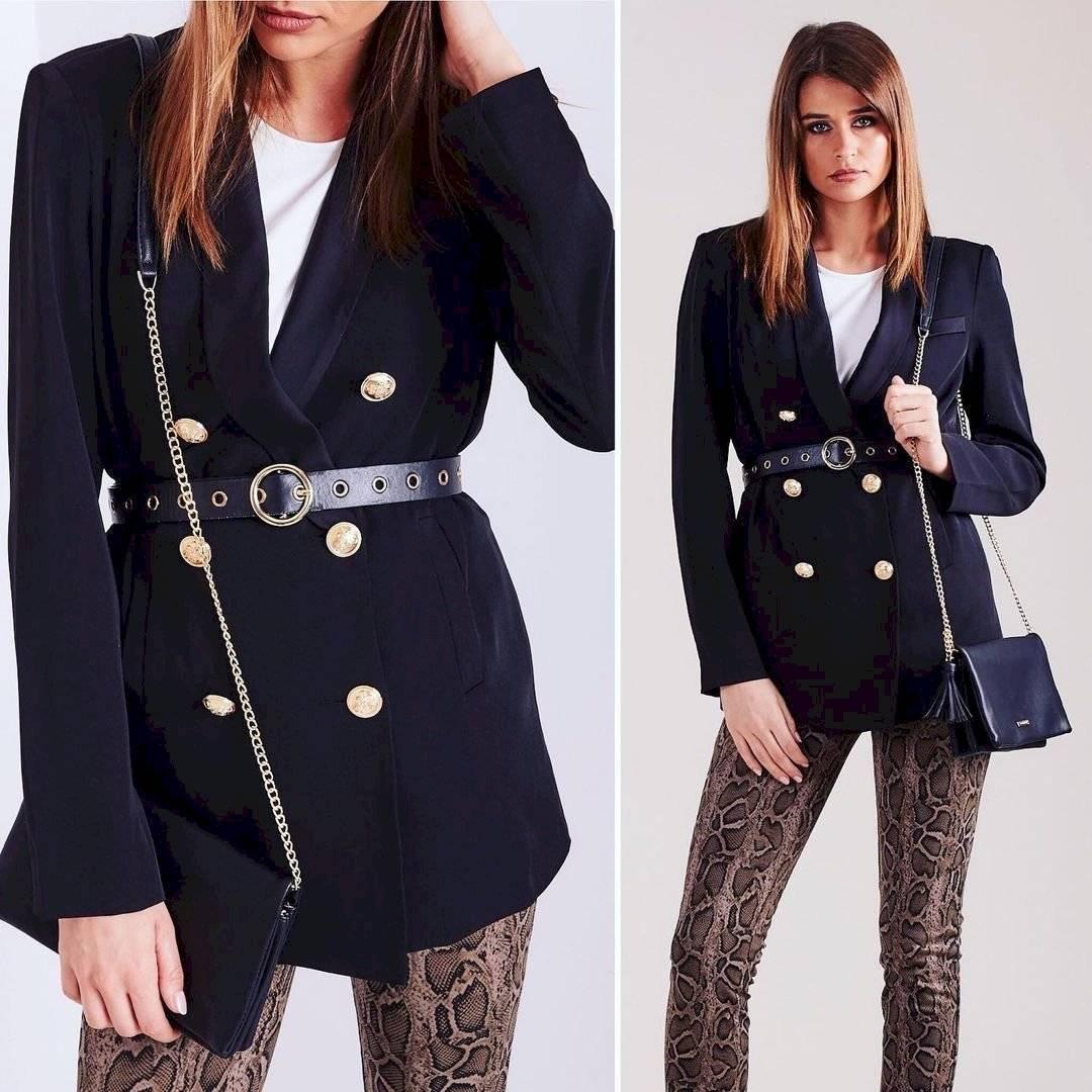 blazers con cinturones