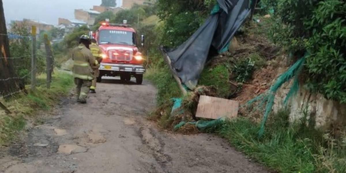 Inundación en zona rural de Bogotá destruyó cultivos y afectó 8 viviendas