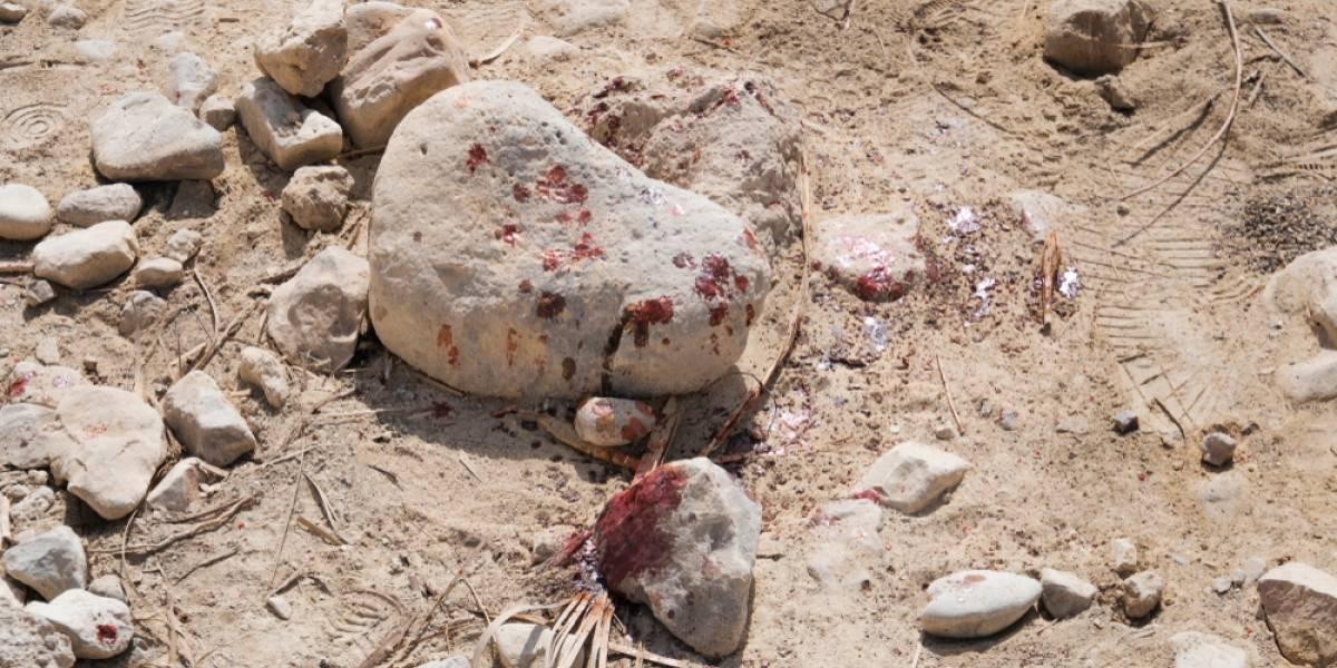 Mujer murió tras ser atacada con una piedra por un drogadicto