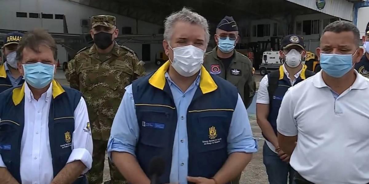 Iván Duque llegó a San Andrés para evaluar los daños por Huracán