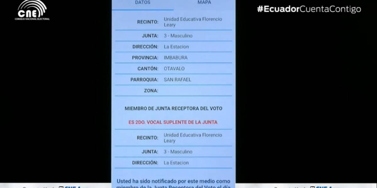 CNE habilita aplicación móvil para para consultar lugar de votación y si es miembro de 'mesa'