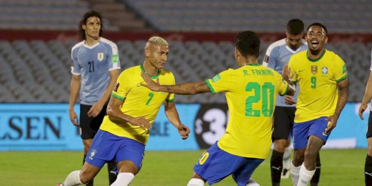 ¡Centenariazo! Brasil le ganó a Uruguay en su casa y sigue imparable en la Eliminatoria (🇺🇾 0-2 🇧🇷)
