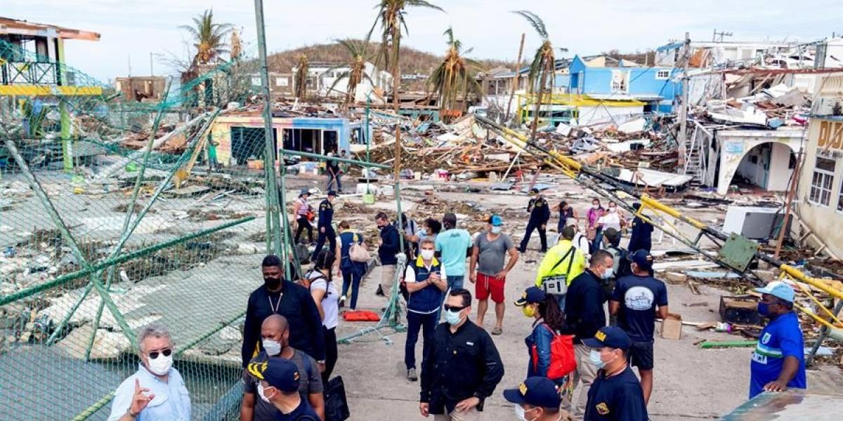 Autoridades confirman dos muertos y un desaparecido tras el paso del huracán Iota