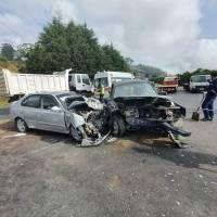 Cinco heridos tras choque frontal en la vía Alóag – Santo Domingo