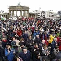 Protestan en Berlín contra las restricciones de la pandemia
