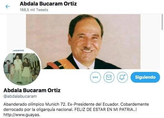 Abdalá Bucaram en Twitter