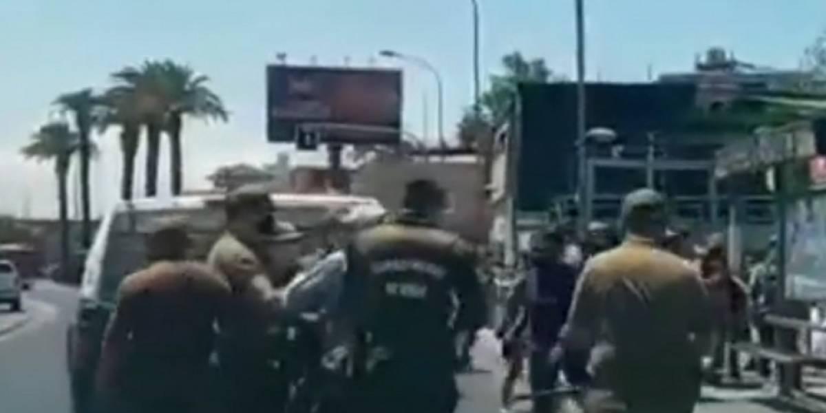 Jornada de furia de comerciantes ambulantes en Persa Estación: atacaron a carabineros con piedras