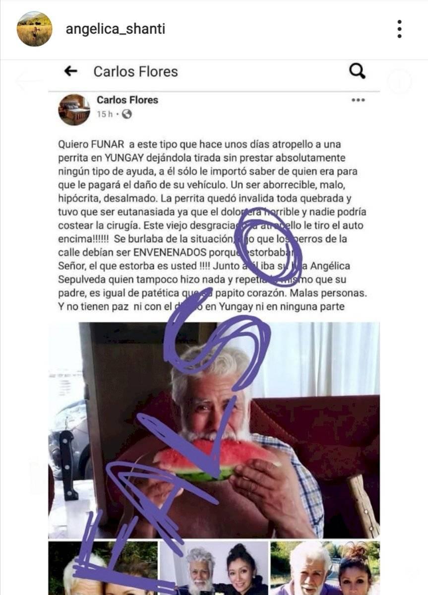 Angélica Sepúlveda por funa en su contra