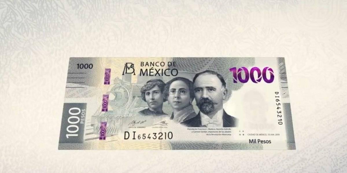 Así es el nuevo billete de mil pesos presentado por Banxico