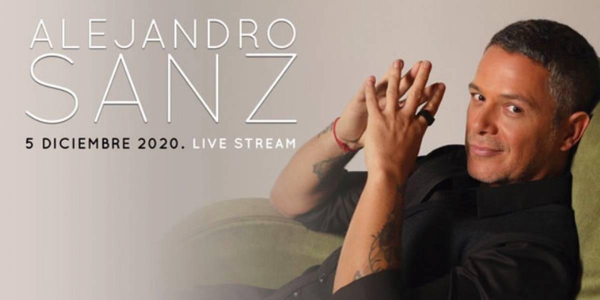 Alejandro Sanz ofrecerá un concierto virtual para cerrar este 2020
