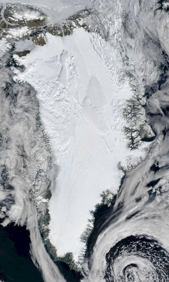 Imagen satelital del presunto río.