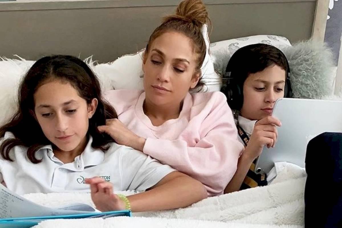 Jennifer Lopez asegura que el tiempo también le sirvió para conectarse más con sus hijos.