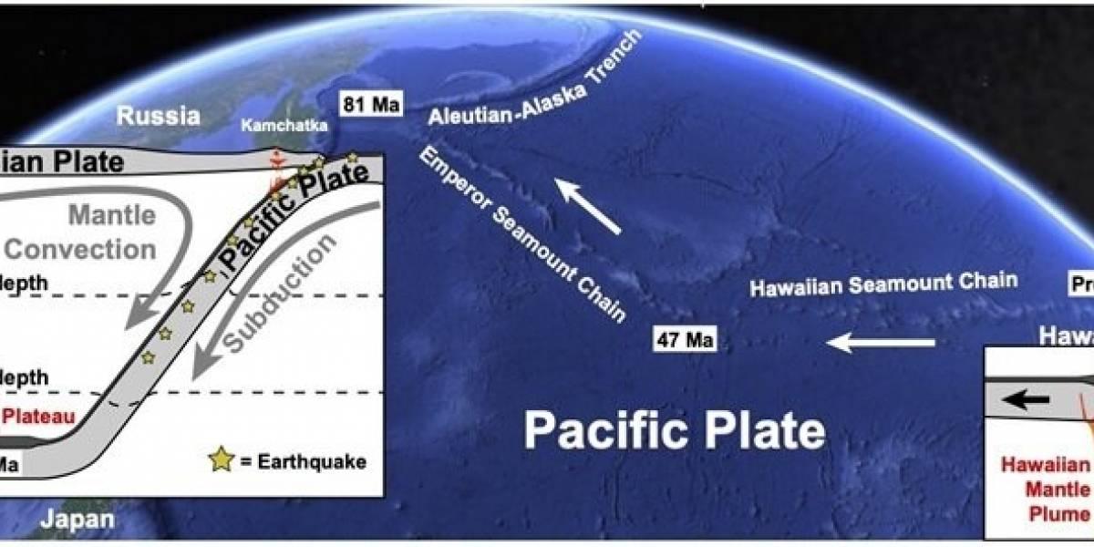 Ciencia.-La cabeza del 'panqueque' tectónico de Hawai, detectada bajo Siberia