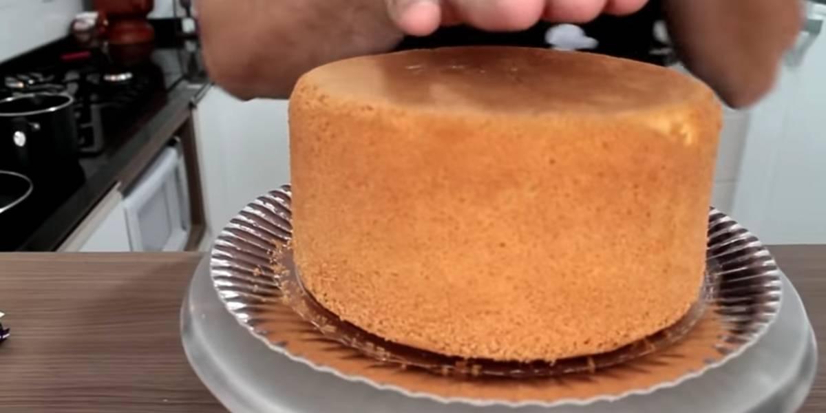 Receita prática de pão de ló profissional com 3 ingredientes