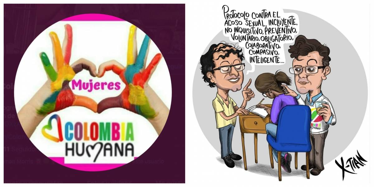 Respuesta de las mujeres de Colombia Humana a la caricatura de X-tian