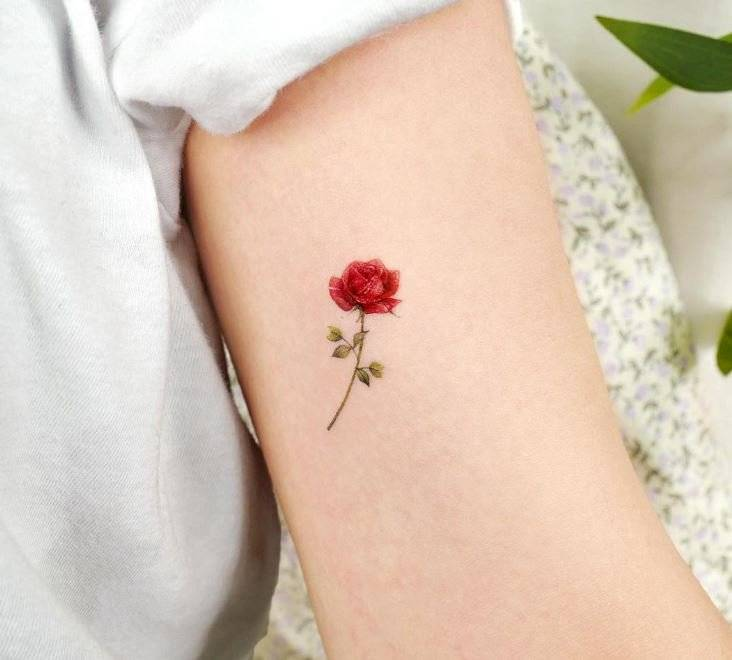 Tatuajes pequeños de rosa