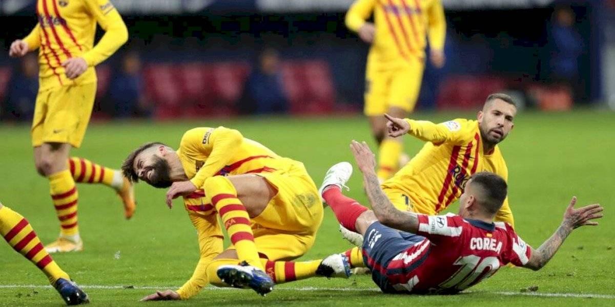 VIDEO: Gerard Piqué sufre espeluznante lesión contra el Atlético de Madrid