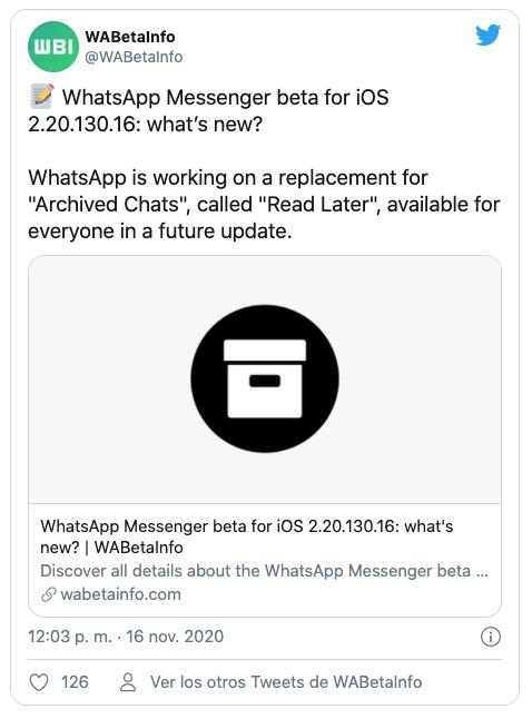 WhatsApp leer más tarde