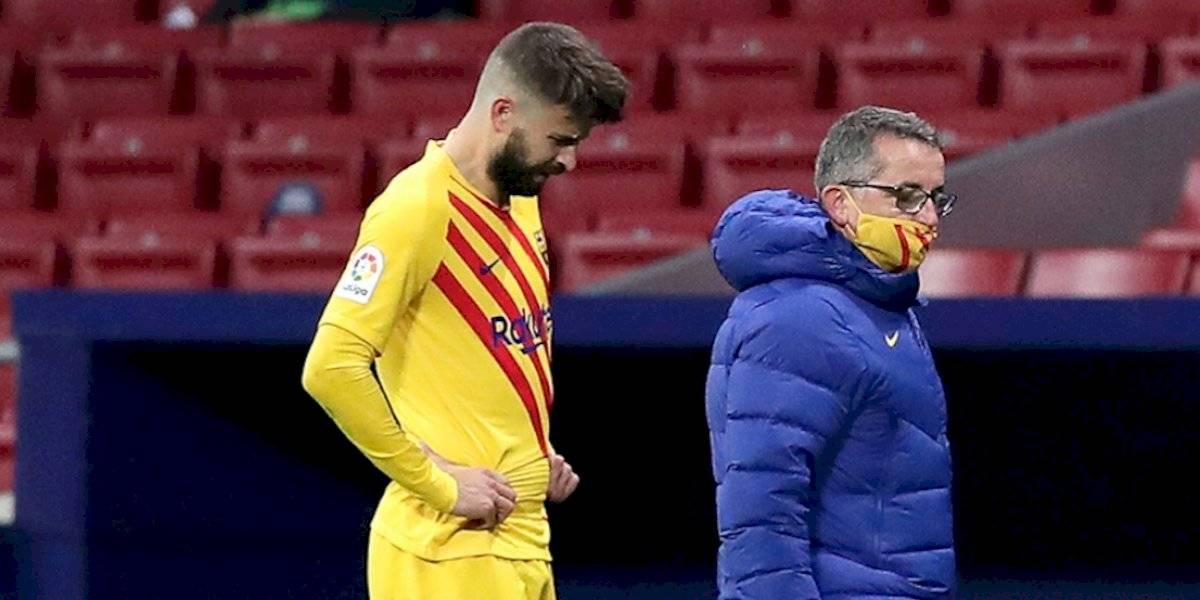 Gerard Piqué sería baja del Barcelona hasta medio año