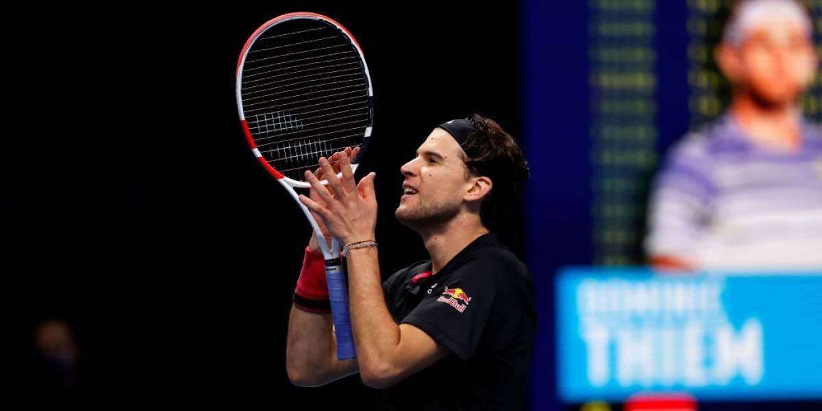 Dominic Thiem sorprende y elimina a Djokovic en la ATP Finals