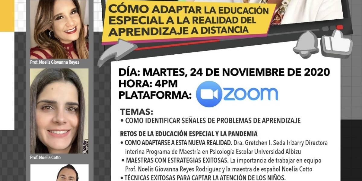 Asociación de Maestros dará foro sobre cómo adaptar la educación especial a distancia