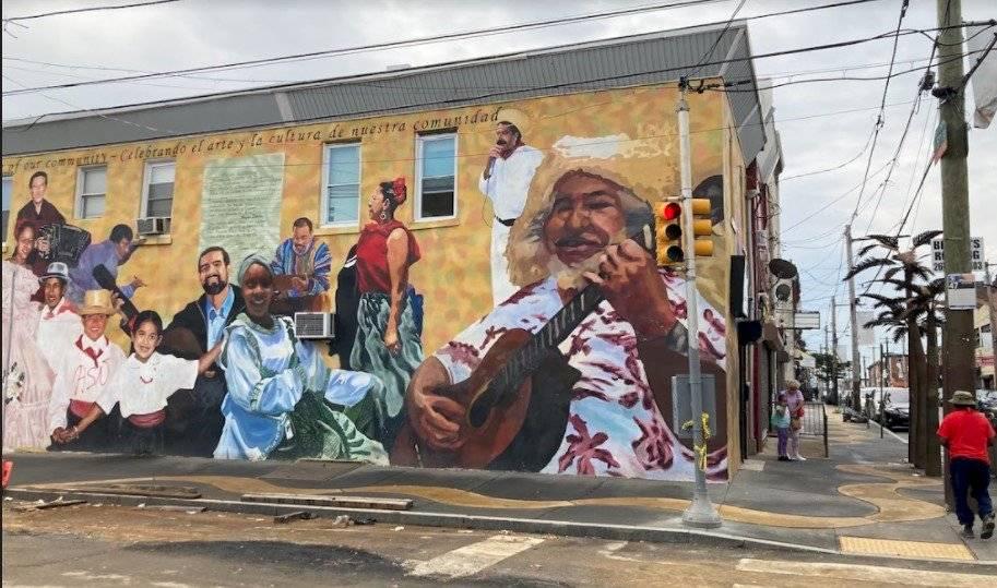 Mural en la calle 5 de Fairhill