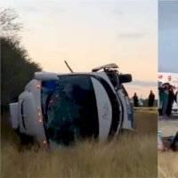 Volcadura de autobús con simpatizantes de Frena deja un muerto y 20 heridos