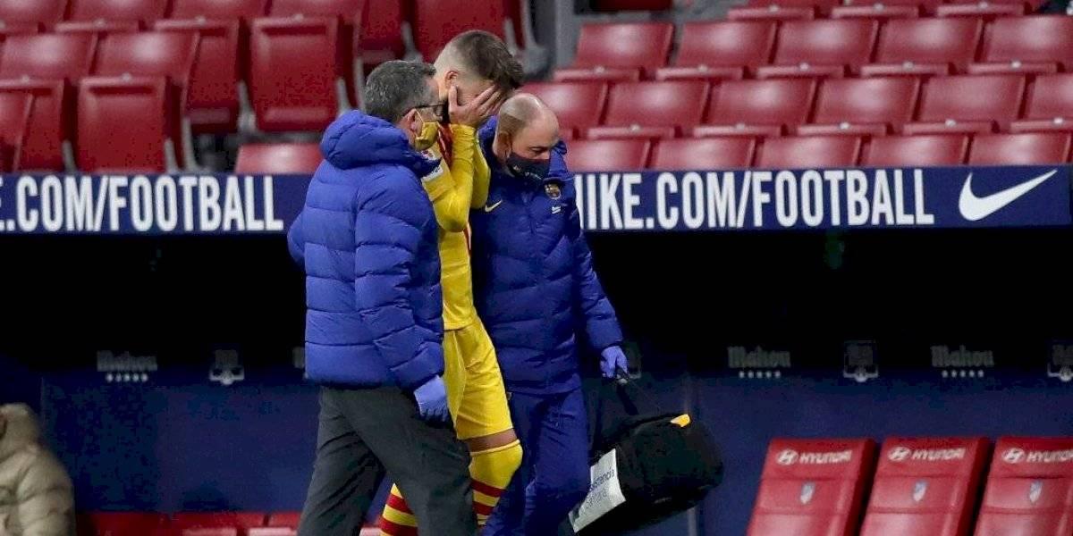 Barcelona confirma las bajas de Gerard Piqué y Sergi Roberto por lesión